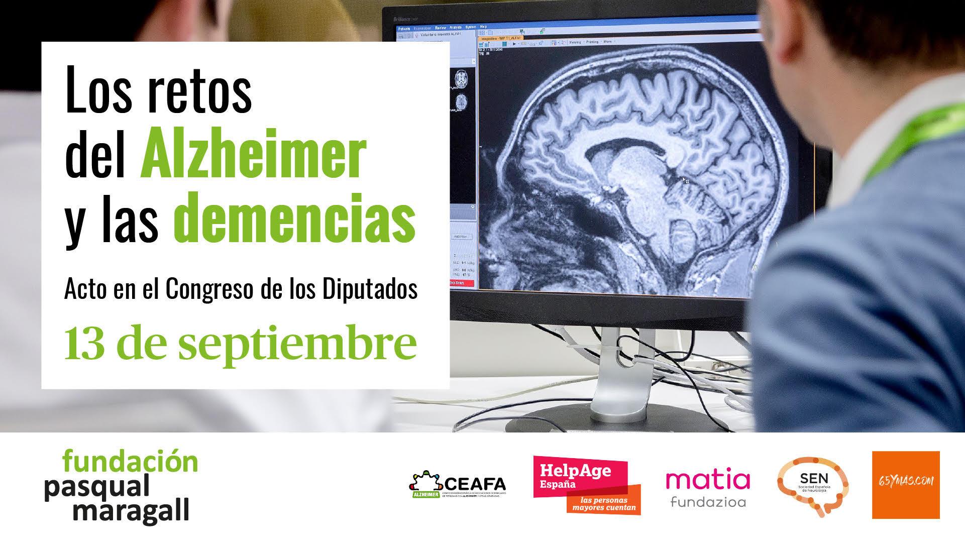 Cartel anunciador del acto: Retos del Alzheimer