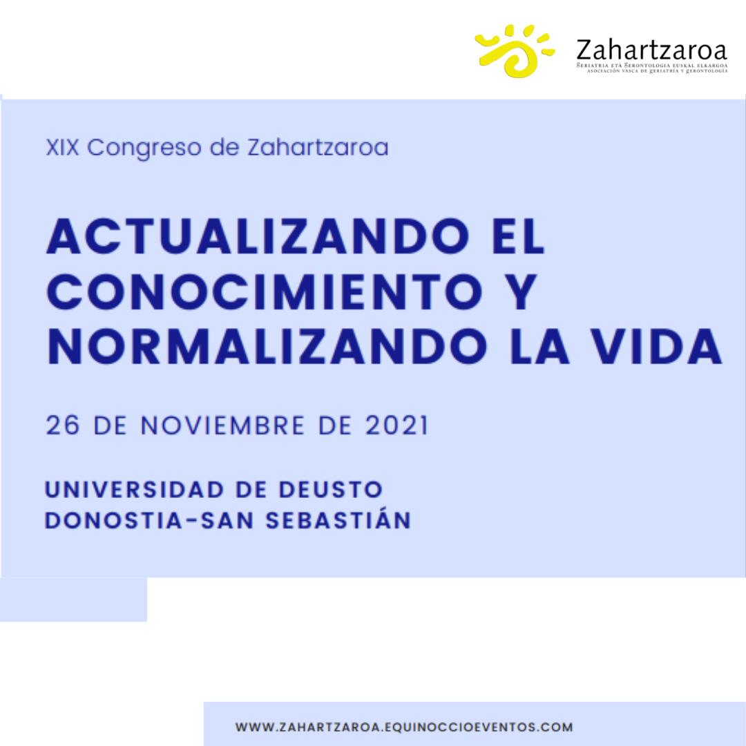 Imagen anunciadora Congreso Zahartzaroa