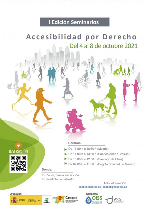 Cartel anunciador de los seminarios web: Accesibilidad por Derecho